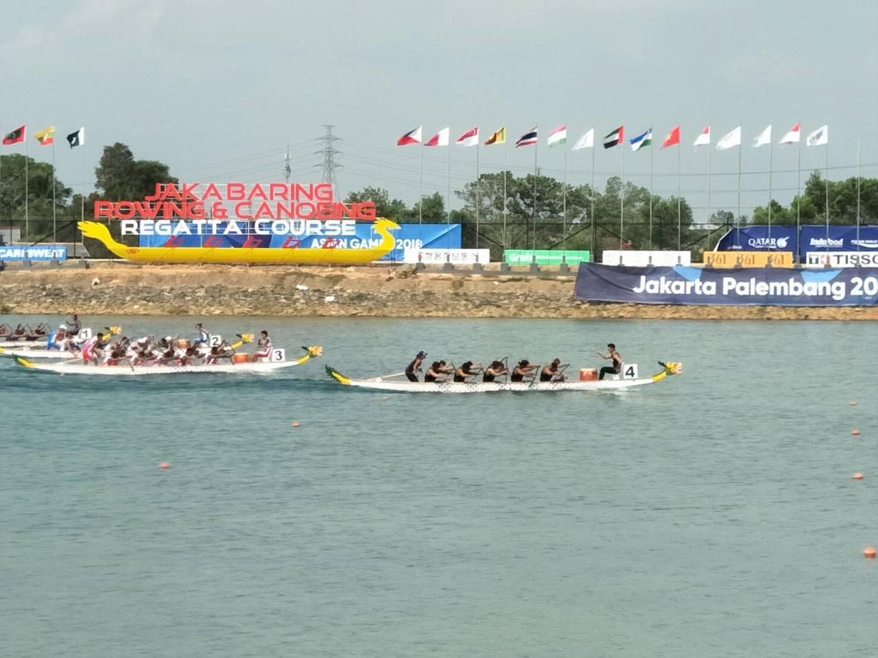 中華男子輕艇龍舟隊1000公尺直道競速奪金。圖/中華奧會提供