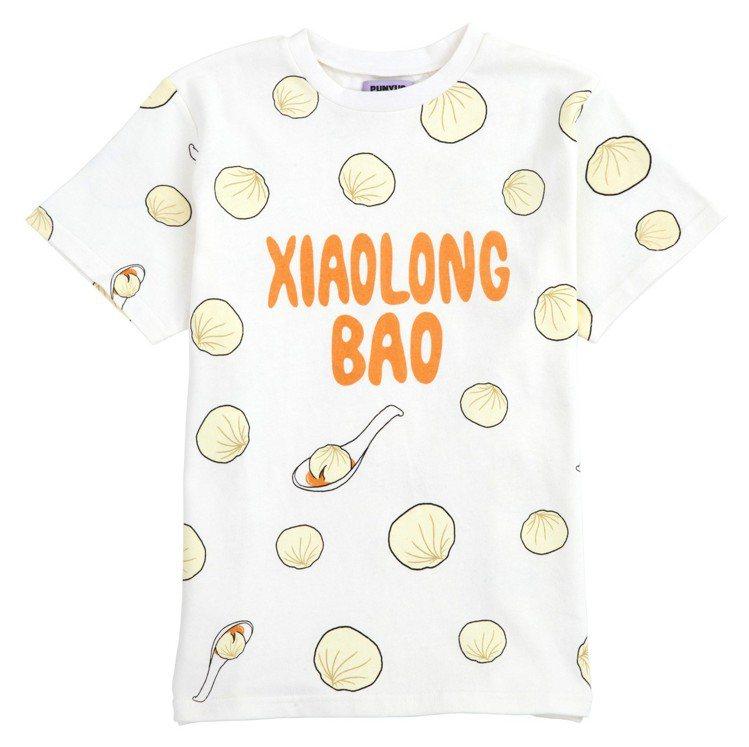 渡邊直美特地為Punyus台北快閃店設計限定「小籠包」T恤。圖/品牌提供