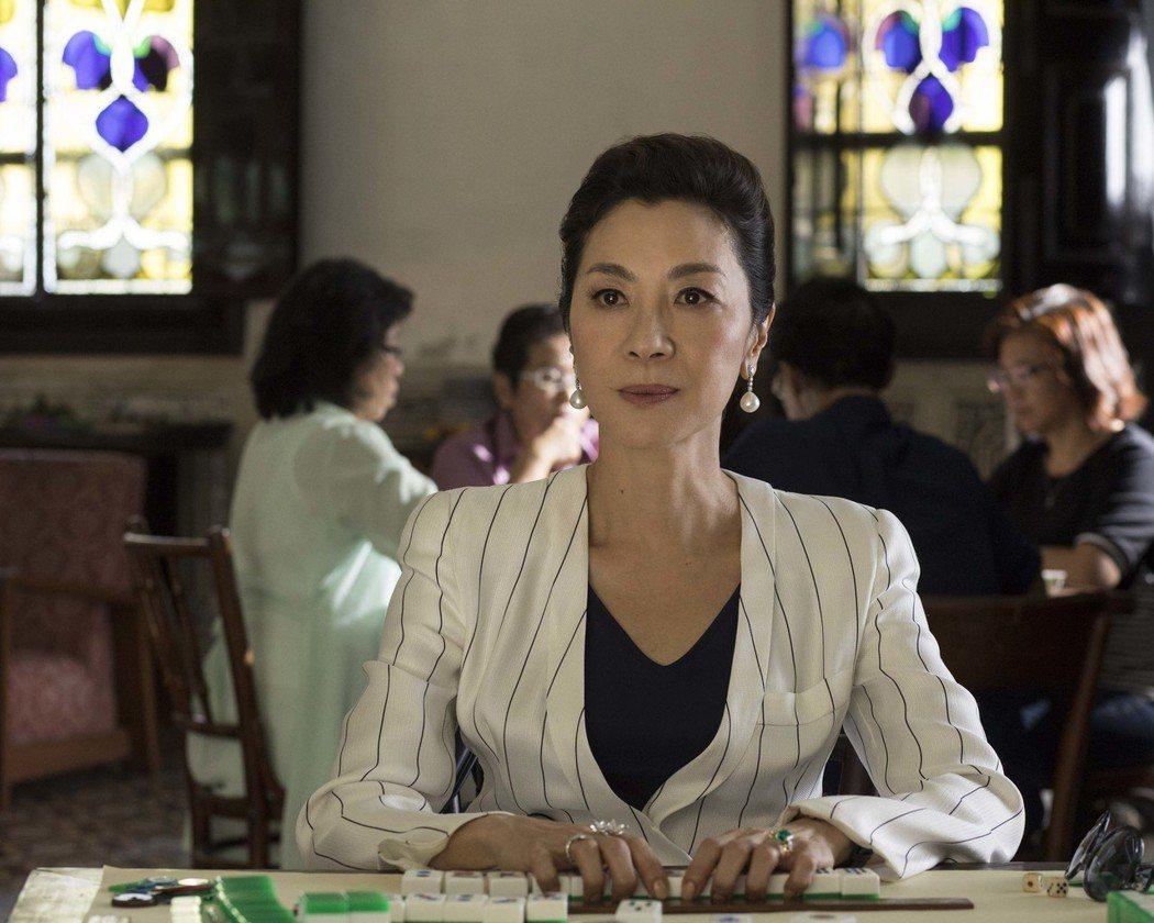 楊紫瓊在「瘋狂亞洲富豪」中展現強大的氣場。圖/華納兄弟提供