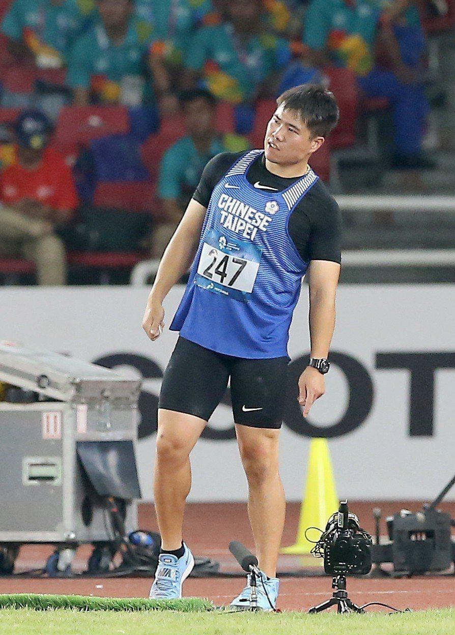 黃士峰沒擠進決賽,只排第9名。特派記者余承翰/雅加達攝影