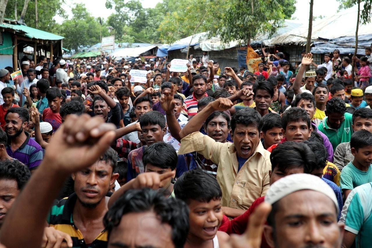緬甸與孟加拉達成協議,緬甸穆斯林少數族裔洛興雅人將自11月開始返回緬甸。圖為洛興...
