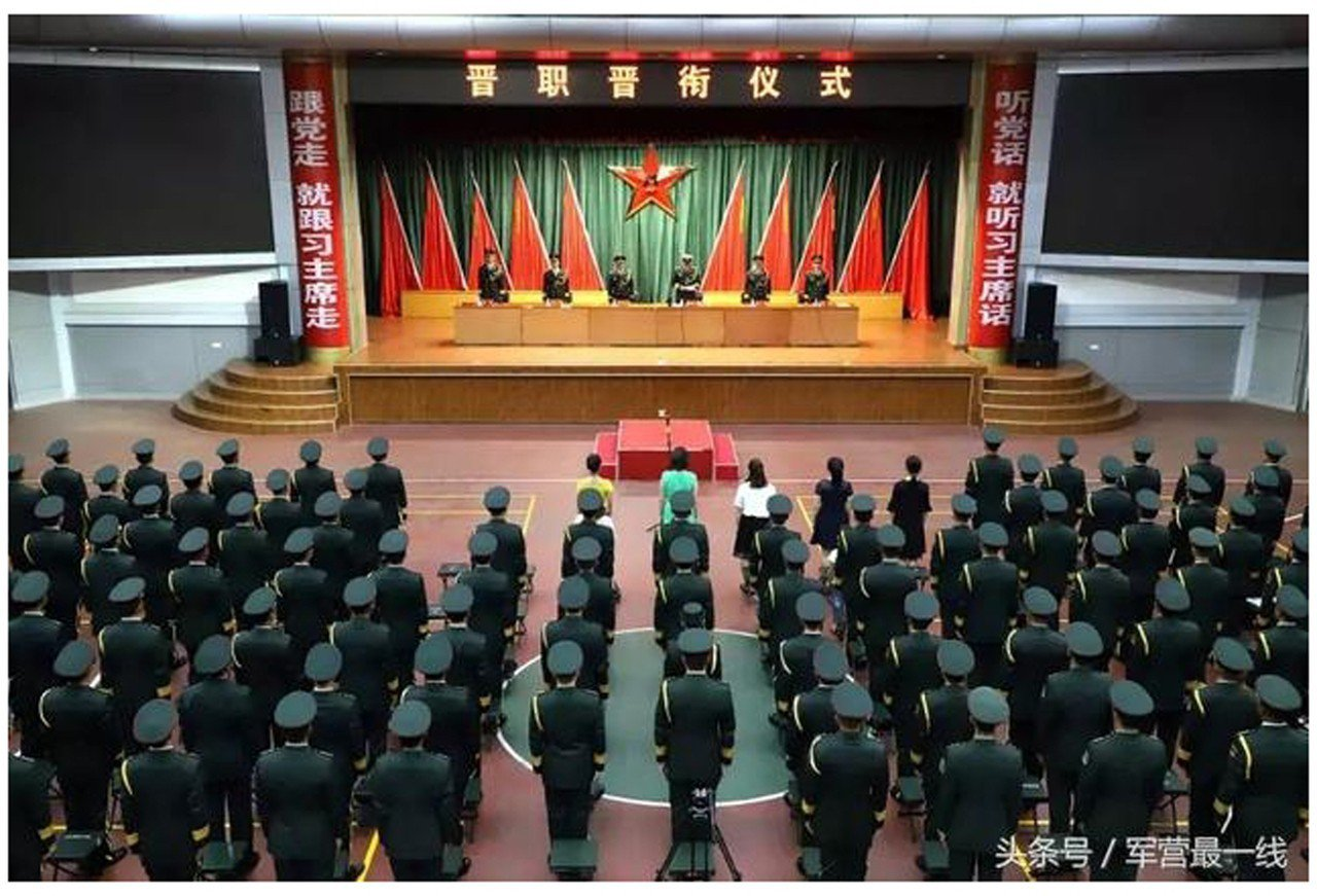 新疆共軍標語:聽習話跟習走。 中央社