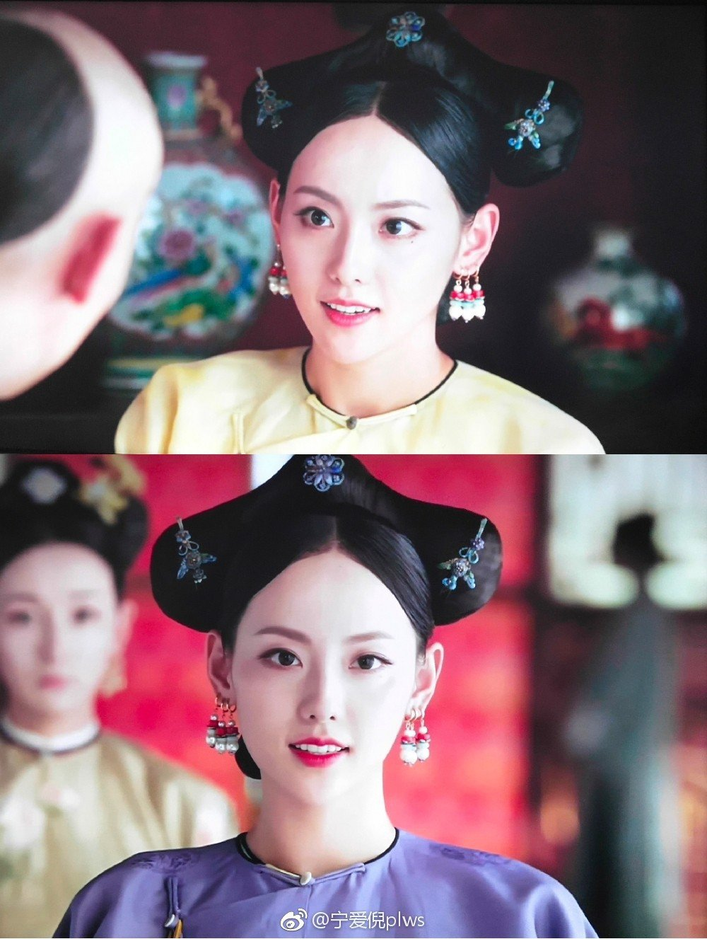 順嬪(張嘉倪飾演)扮演心機不斷的蛇蠍美人。圖/擷自微博。