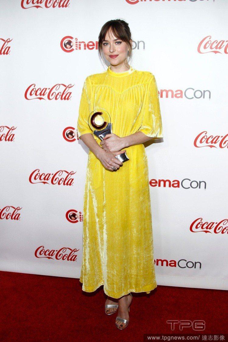 達珂塔強森上一回公開亮相是5月的大銀幕獎頒獎典禮。圖/達志影像