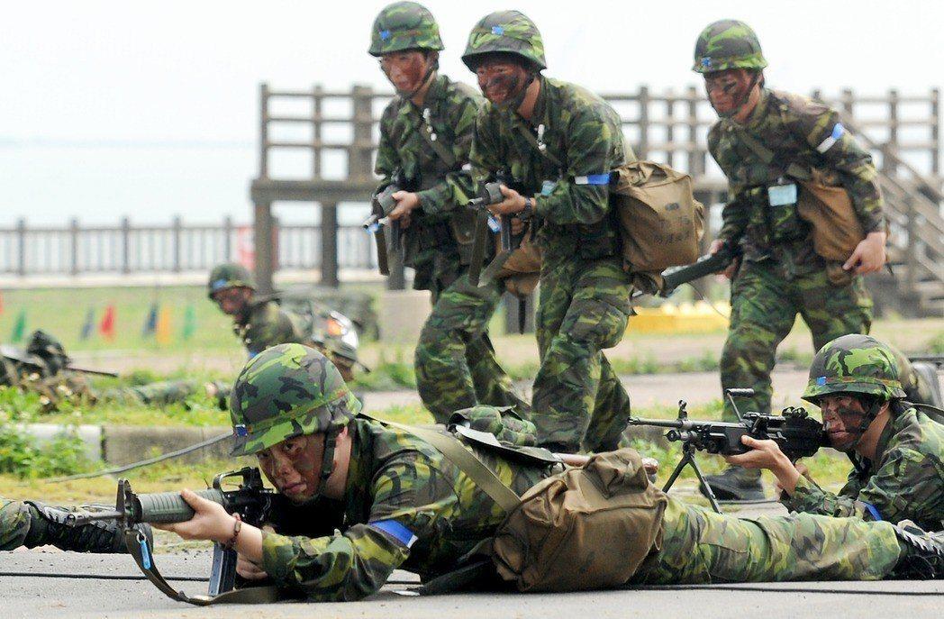 國軍示意圖。聯合報系資料照