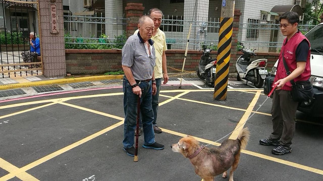 劉姓老榮民即將入住榮民之家,最大心願就是幫妞妞找個家。圖/新北市動保處提供