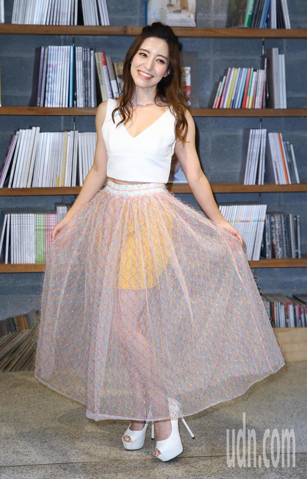 梁心頤(Lara)舉行新專輯「千面獸」試聽記者會。記者陳柏亨/攝影