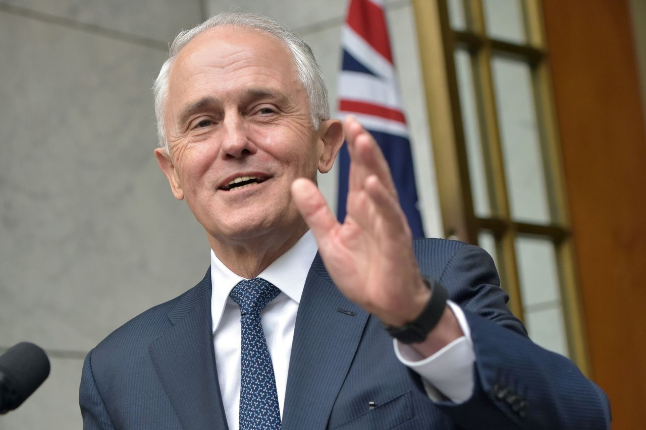 澳洲前總理滕博爾。法新社