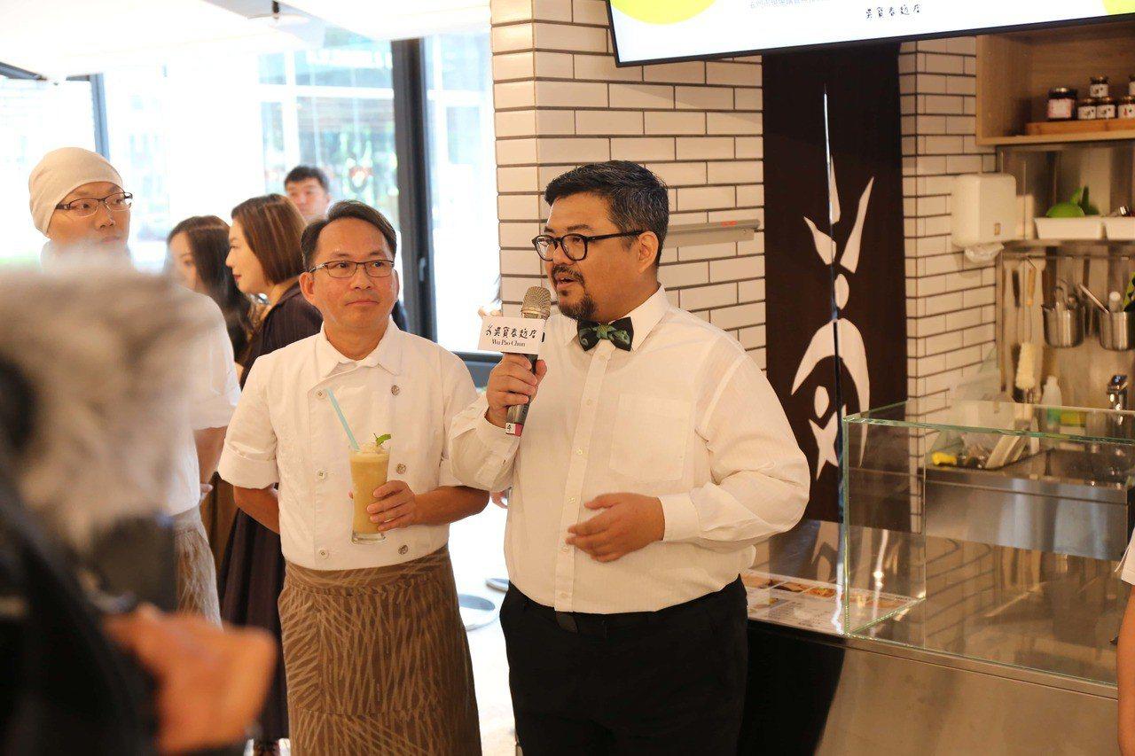 吳寶春(左)與Fika FikaCafe創辦人陳志煌(右)攜手合作。圖/吳寶春...
