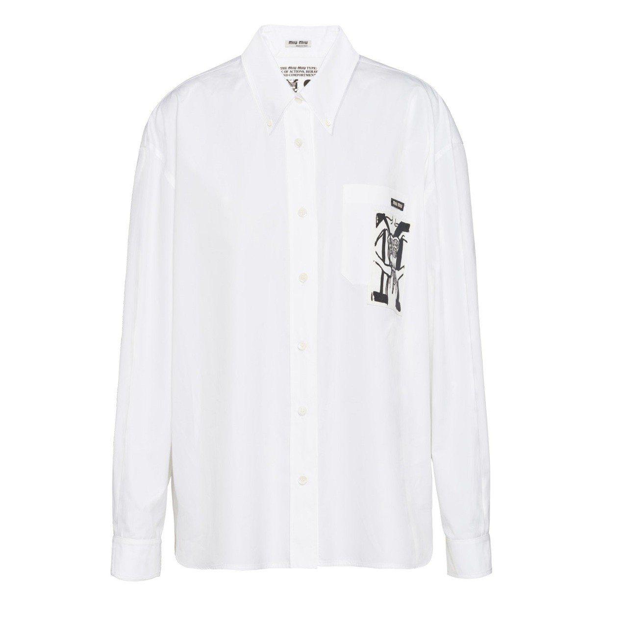 Miu Miu Type訂製襯衫,32,000元。圖/Miu Miu提供