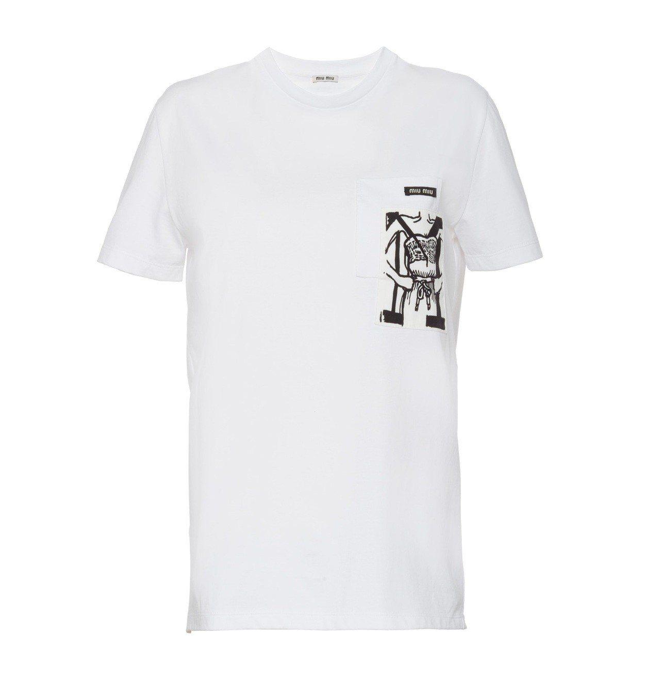 Miu Miu Type訂製T恤,16,500元。圖/Miu Miu提供