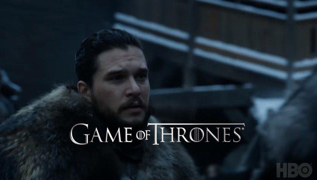 「冰與火之歌:權力遊戲」最終季中瓊恩雪諾再回到臨冬城。圖/摘自HBO