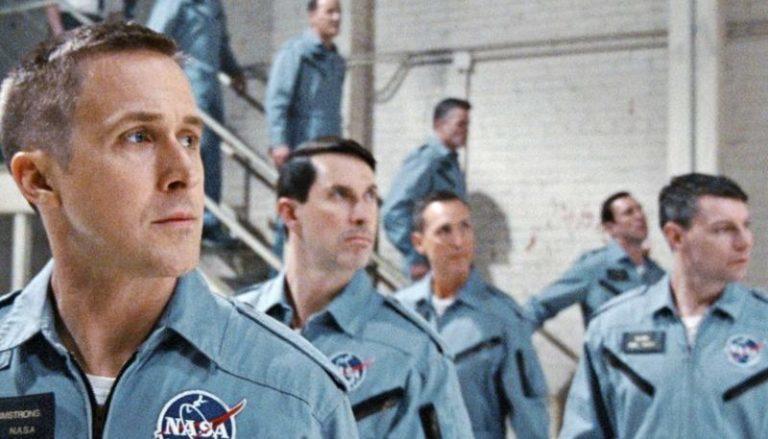 萊恩葛斯林(左一)憑「登月先鋒」再次問鼎威尼斯影帝。圖/摘自imdb