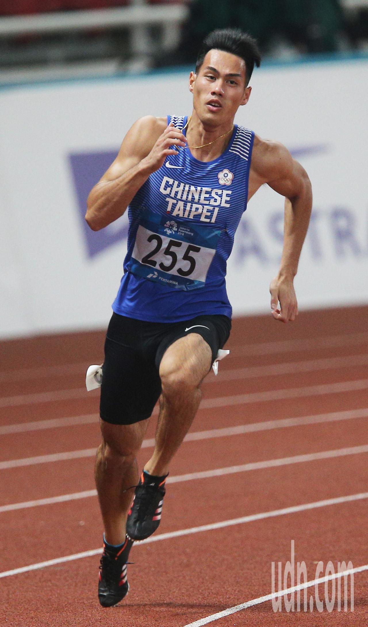 亞運男子200公尺準決賽,楊俊瀚出賽。特派記者陳正興/雅加達攝影