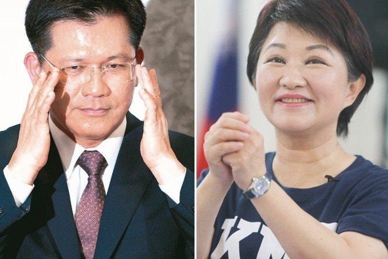 台中市長林佳龍(左)、國民黨台中市長參選人盧秀燕(右)。聯合報系資料照