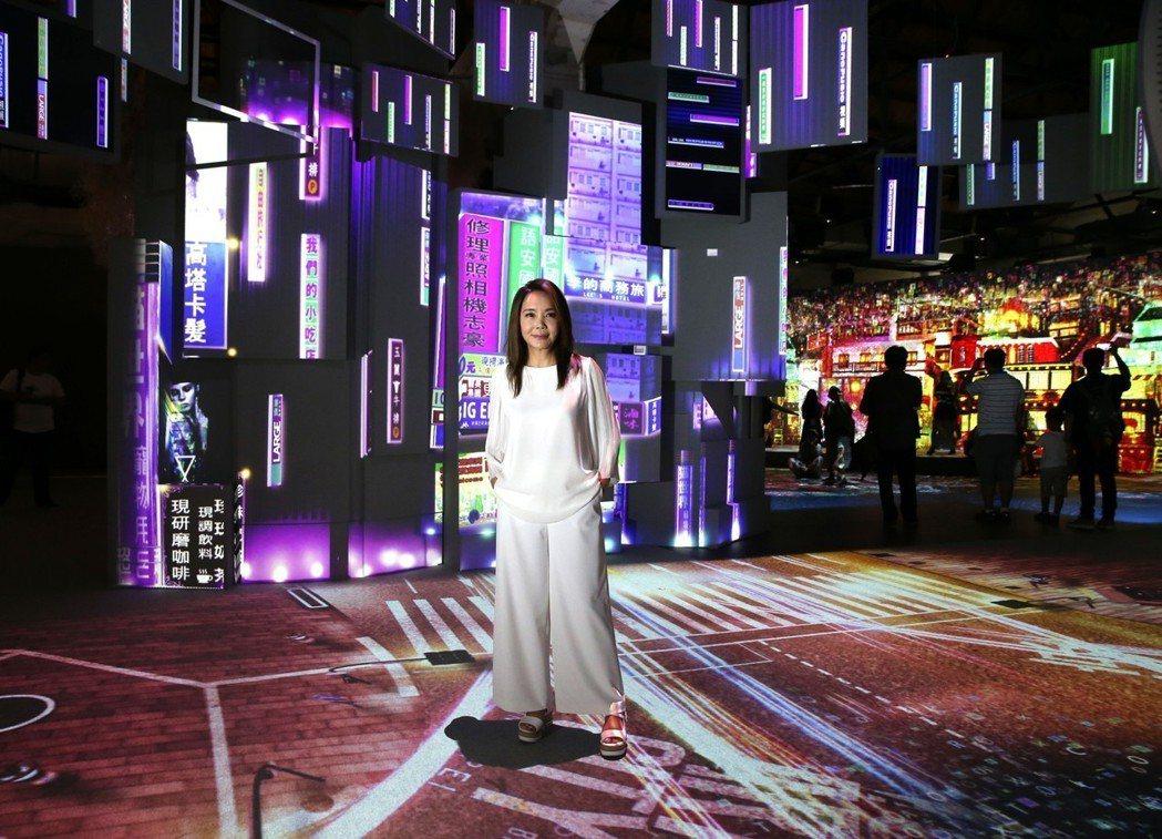 辛曉琪演唱會結合日本光影特效在台北小巨蛋登場。記者侯永全/攝影