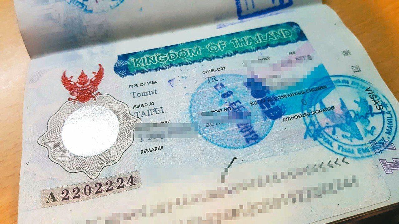 10月1日起,泰國簽證代辦費用恐將增收470元。 記者陳睿中/攝影