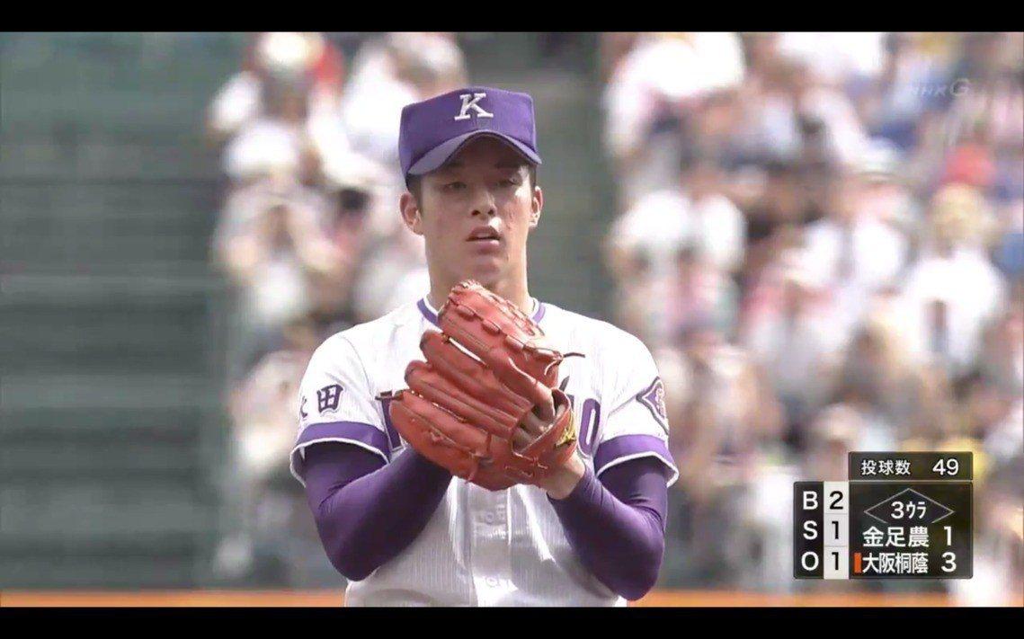 今年金足桐傳說之中,備受矚目的投手吉田輝星。 圖/擷自NHK+日本高校野球聯盟