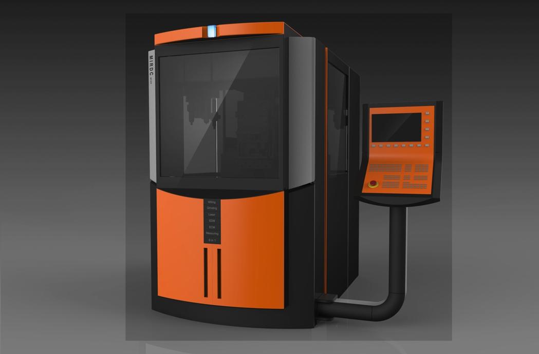 CNC精微複合加工設備。 金屬中心/提供
