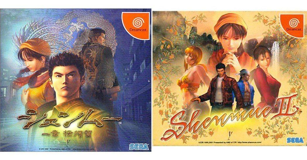 當初DC主機發行的莎木之遊戲封面,左為一章,右為2代。