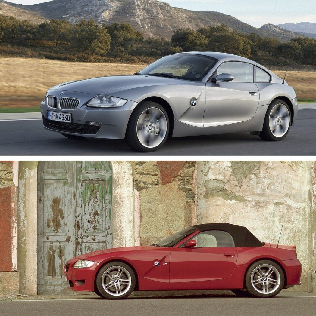 E85/E86 時期的BMW Z4 軟硬頂都有。 摘自BMW