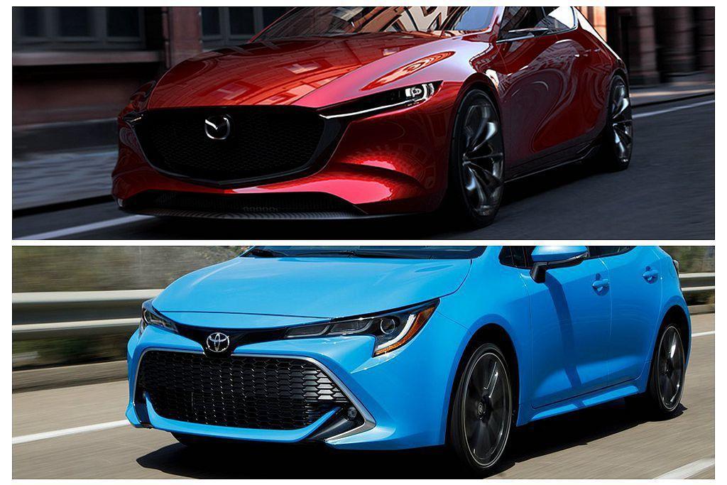 Toyota話題運動掀背Auris,近日成為媒體追逐的焦點,而新世代Mazda3...