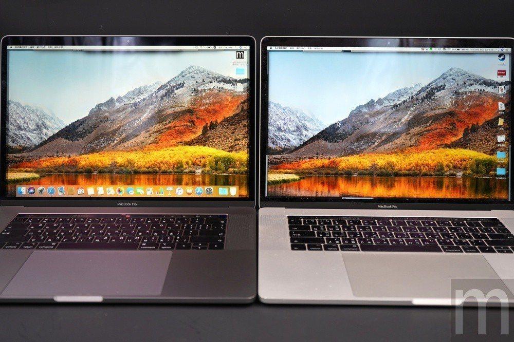 由於年份款式不同,使用螢幕面板也有差異,因此2016年款與2018年款的MacB...