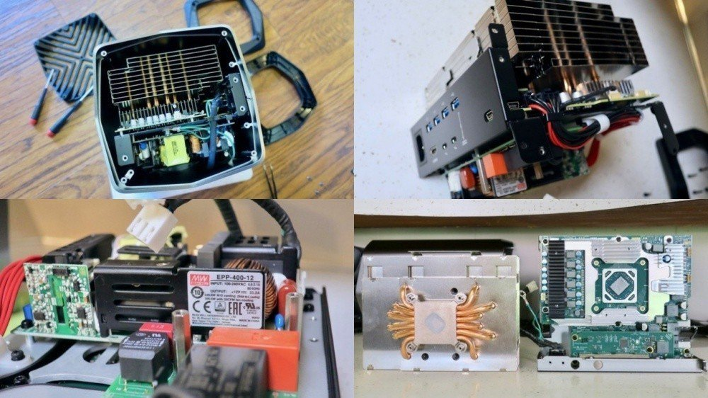 Blackmagic Design塔式外接顯示卡盒實際拆解,可以發現內部模組採嵌...