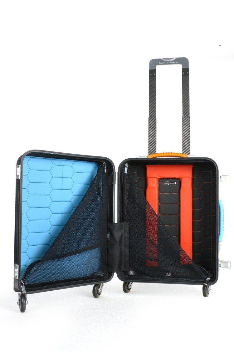 Aurum登機箱藍寶堅尼限量訂製款,售價32萬元。圖/TecknoMonster...