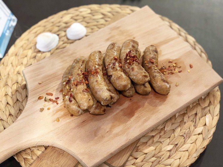 巴西風味的歐式復刻火腿臘腸。記者魏妤庭/攝影