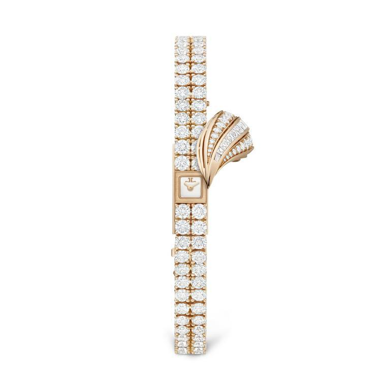 Joaillerie 101 Feuille 珠寶腕表,18k玫瑰金鑲嵌鑽石,積...