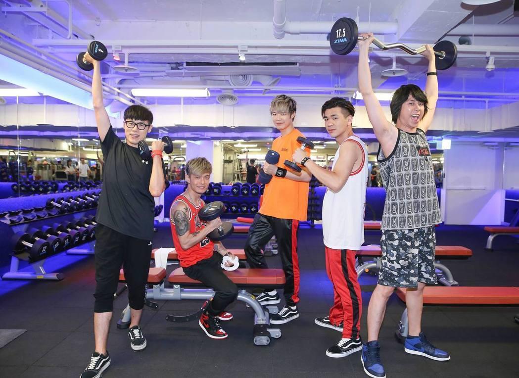 成軍15年的八三夭將在周末攻上小巨蛋開唱,日前特別健身練體力。圖/聯合報系資料照