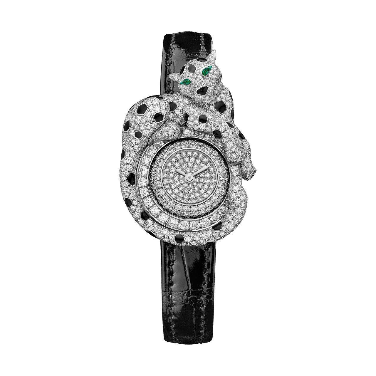 莫允雯配戴的Panthère Espiègle de Cartier美洲豹腕表,...