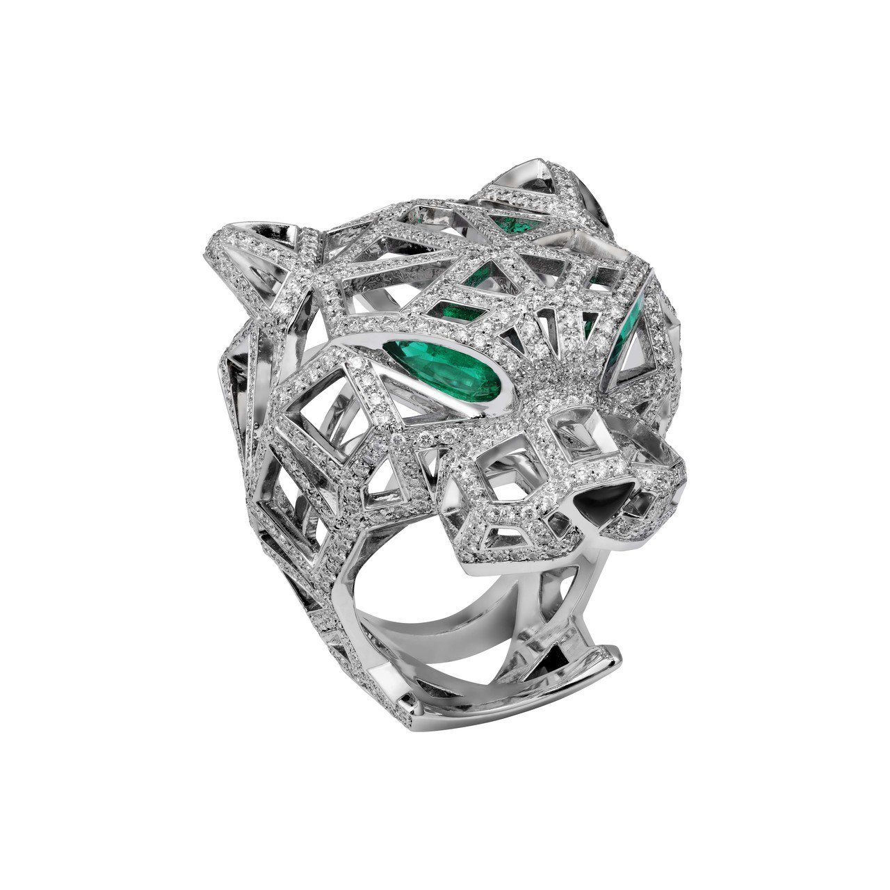 吳思賢最愛Panthère de Cartier美洲豹鏤空鑽石戒指,參考價格24...