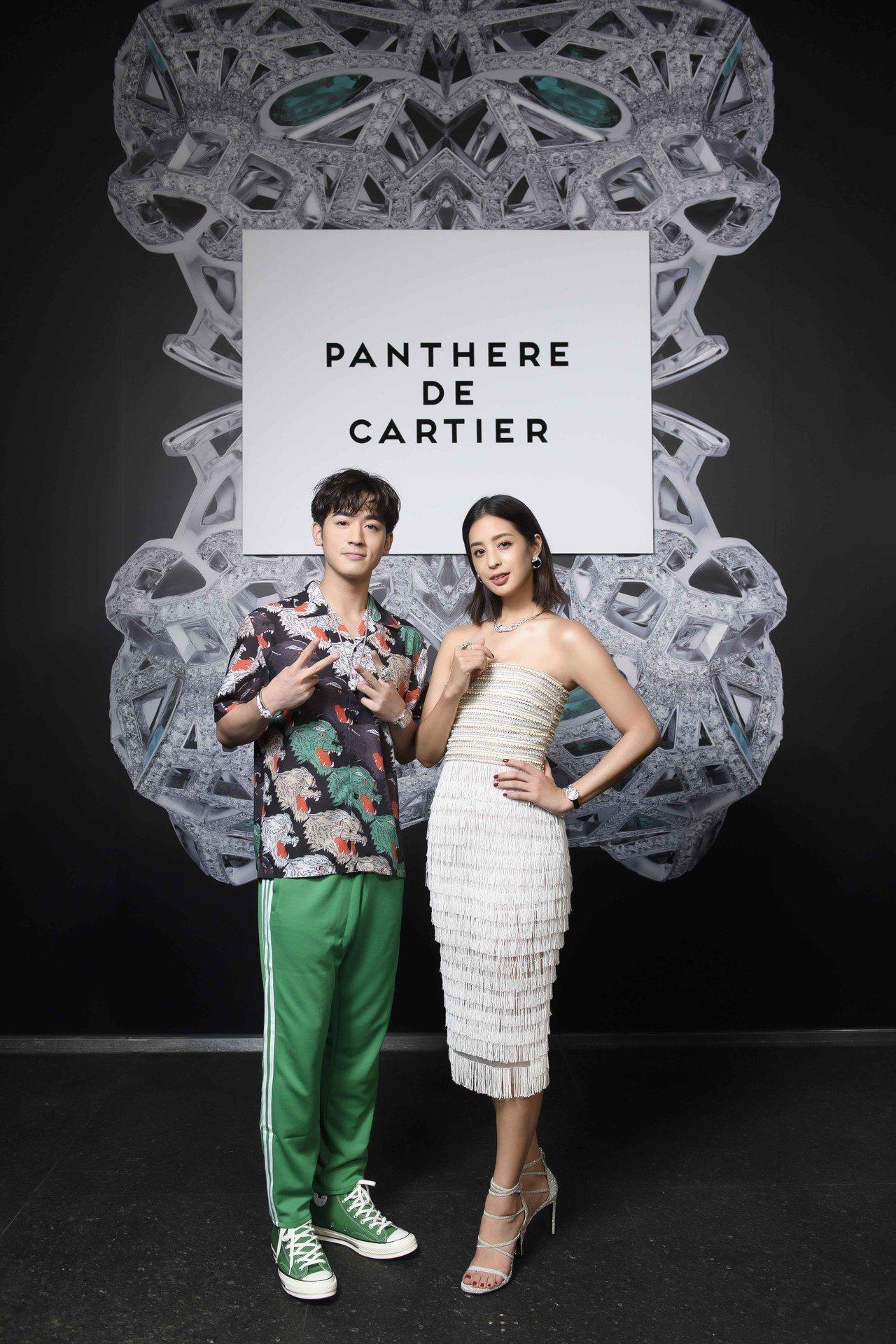 莫允雯、吳思賢展演卡地亞Panthère de Cartier美洲豹系列。圖/卡...