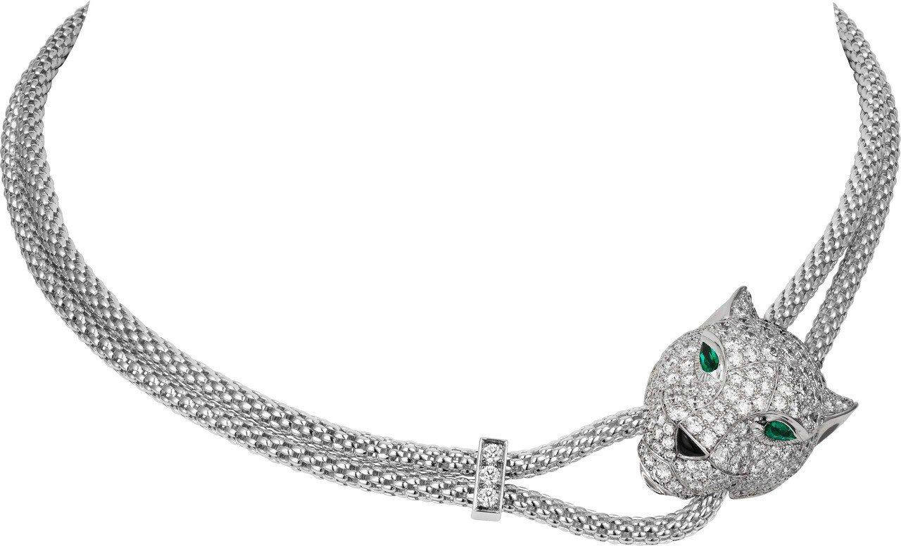 吳思賢配戴Panthère de Cartier豹咬鏈鑽石項鍊,參考價格324萬...