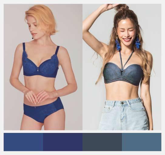靛藍具有讓膚色顯白的視覺效果。圖/beaualce提供