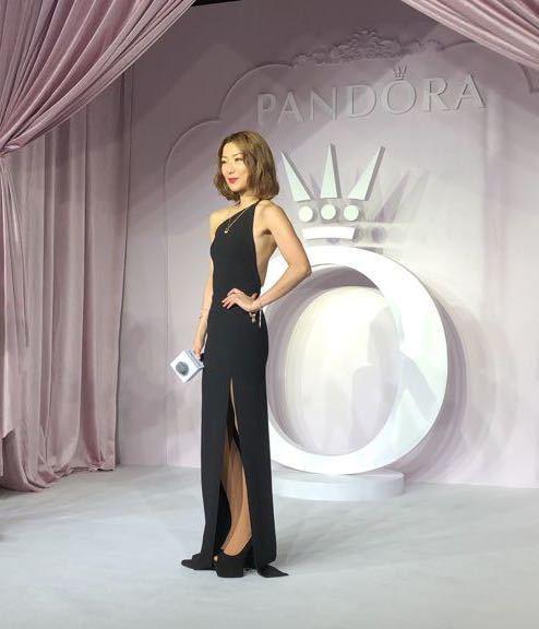 鄭秀文於上海出席PANDORA 新品發表會。記者孫曼/攝影