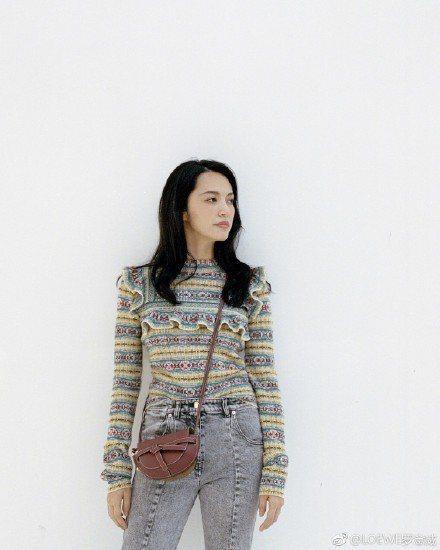 姚晨穿LV上衣搭配Gate迷你包款展現個人風格。圖/取自微博