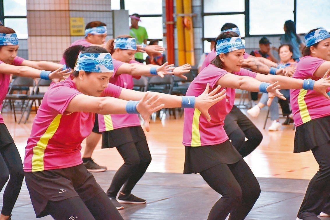 第7屆原住民族活力健康操競賽全國決賽,昨天起接連2天在桃園市銘傳大學體育館舉行。...