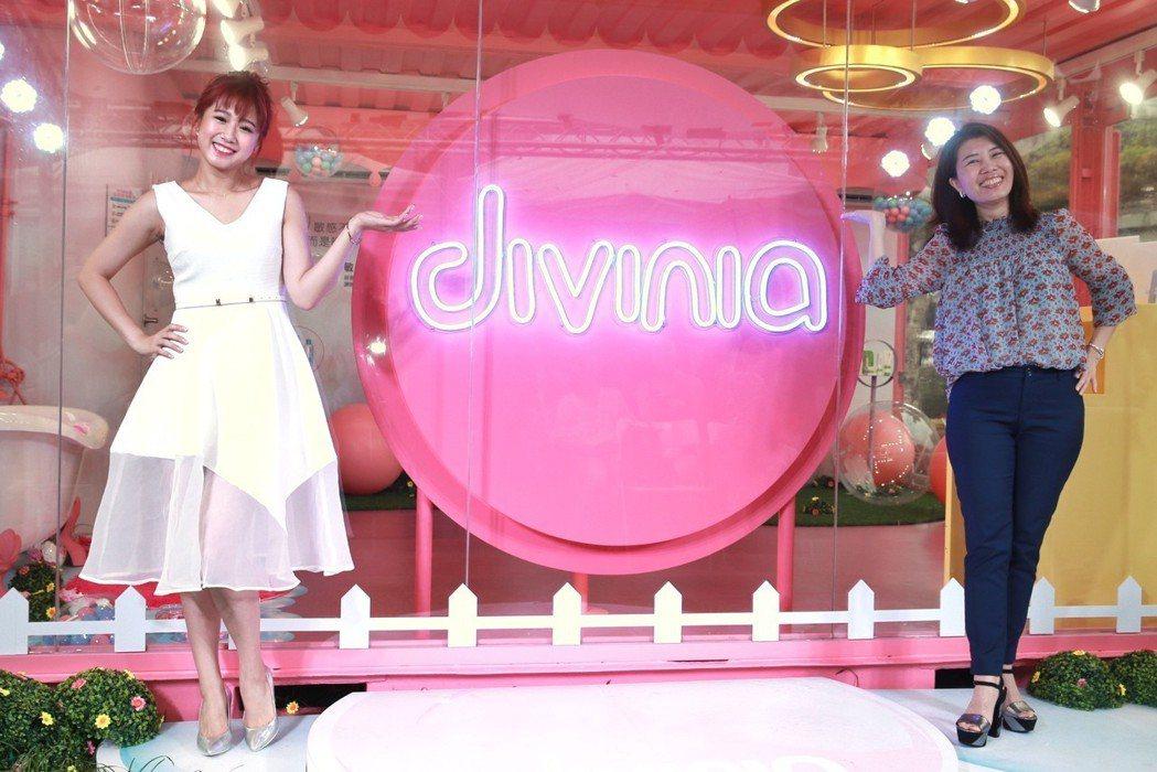 divinia蒂芬妮亞歡慶20週年,下午在華山樹前草地打造粉紅泡泡聚落,以「圈住...