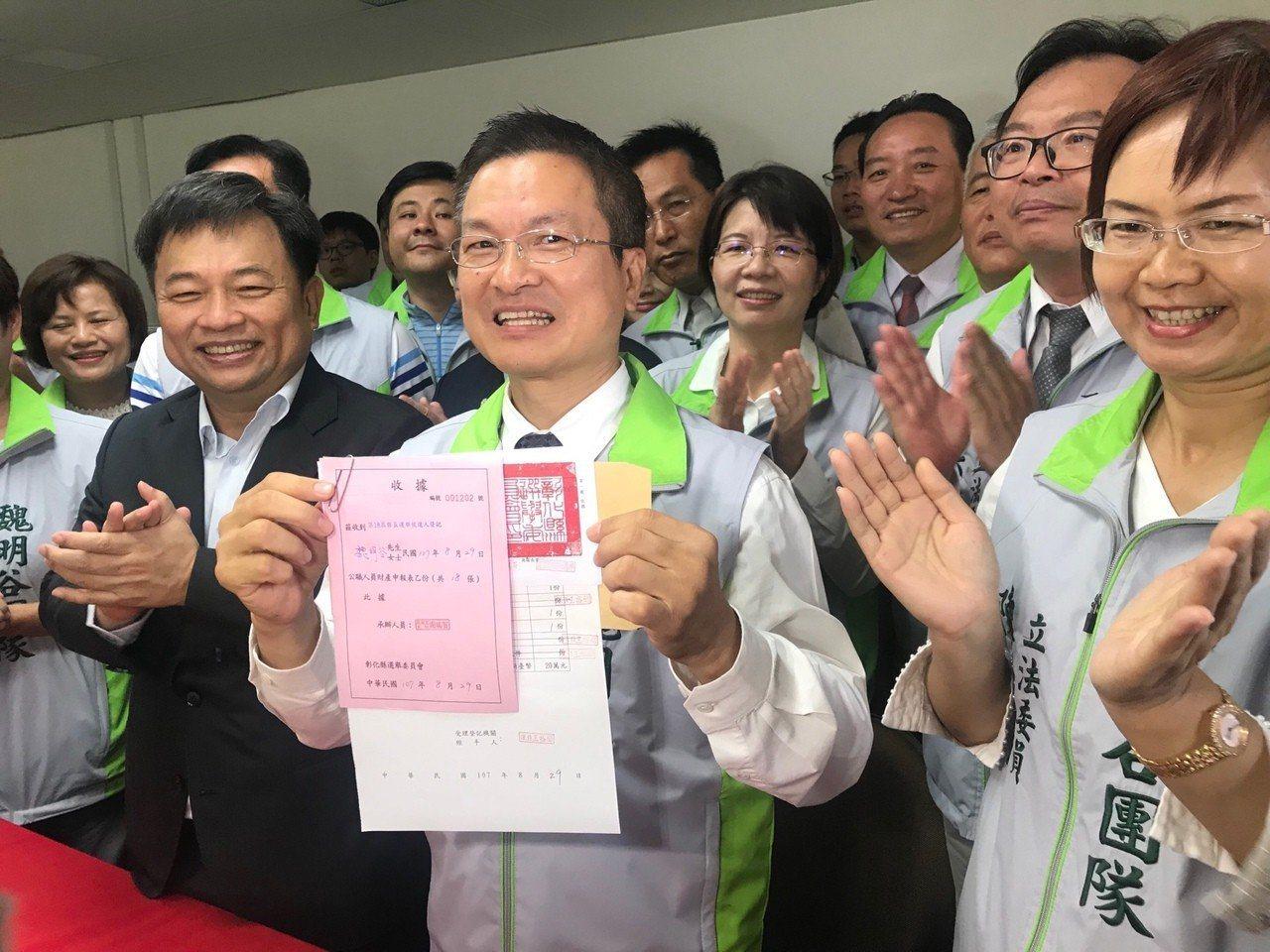民進黨籍彰化縣長魏明谷爭取連任,但選情膠著。 圖/聯合報系資料照片