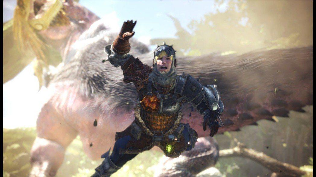 遊戲初始穿著爛裝備的獵人跟玻璃娃娃一樣,被蠻顎龍撞一下必死無疑。