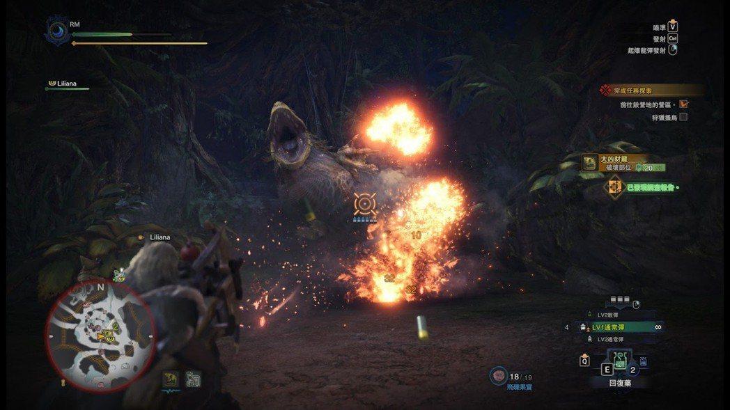 輕重弩的遊玩風格偏向在遠處放冷箭,視戰況擊出各種特殊彈藥。