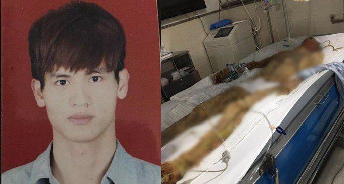 24歲工人馮卓斌工作時因蒸氣設備爆炸造成全身98.5%燙傷,2個月後不幸離世。 ...