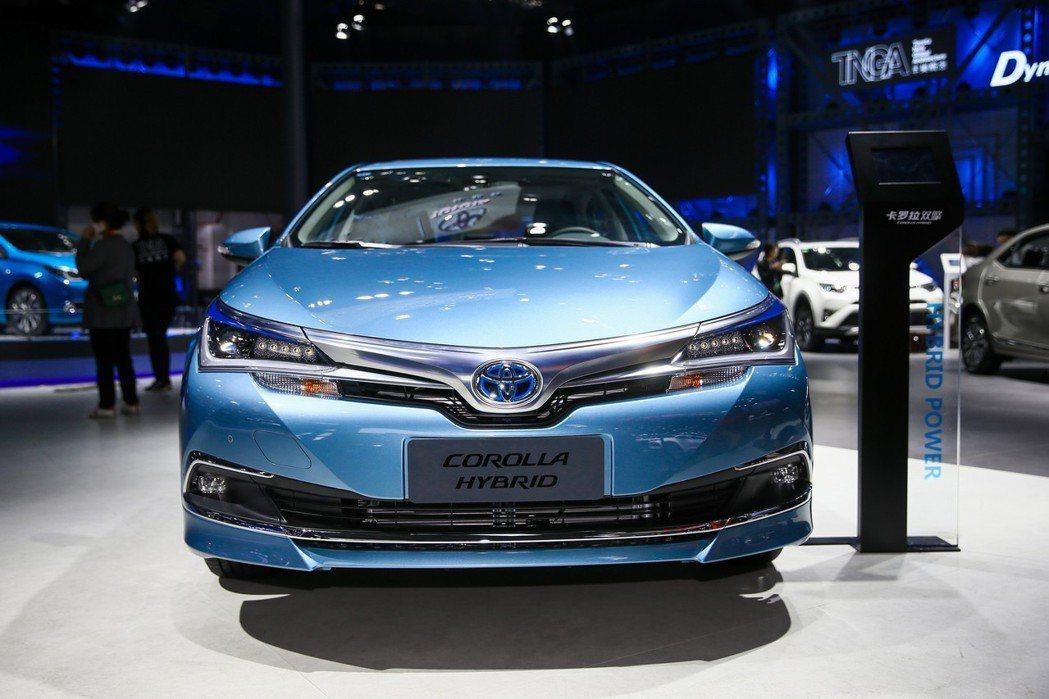 Toyota Corolla Hybrid中國版。 摘自豐田中國
