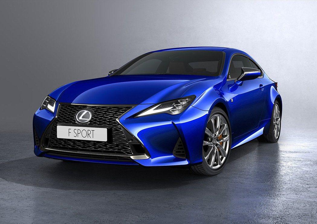 2018 Lexus RC 小改款將於10月巴黎車展發表。 摘自Lexus