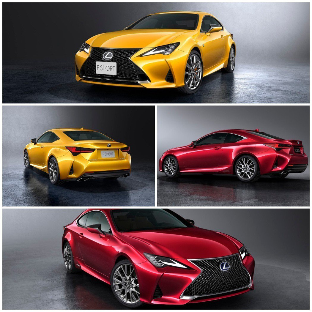 小改款Lexus RC推出了包含Blue Vortex Metallic塗裝的1...