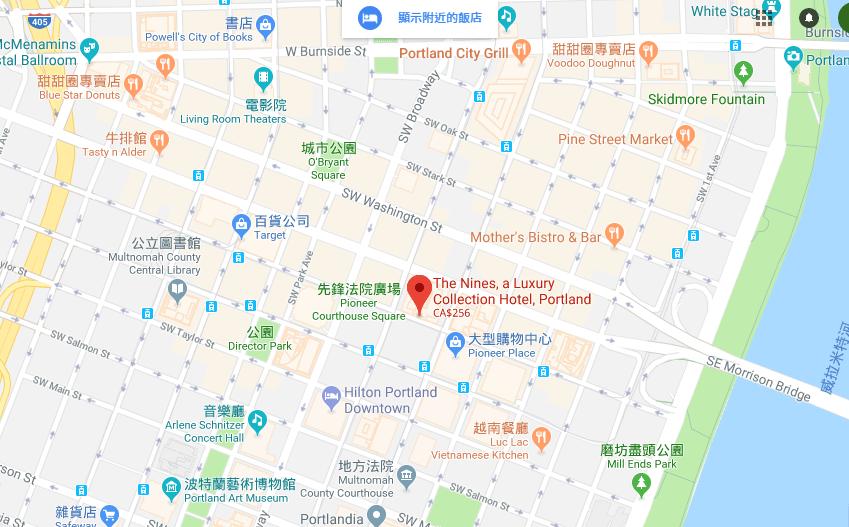 酒店位置圖,其他著名的酒店,還有購物中心,也都在附近 圖文來自於:TripPlu...