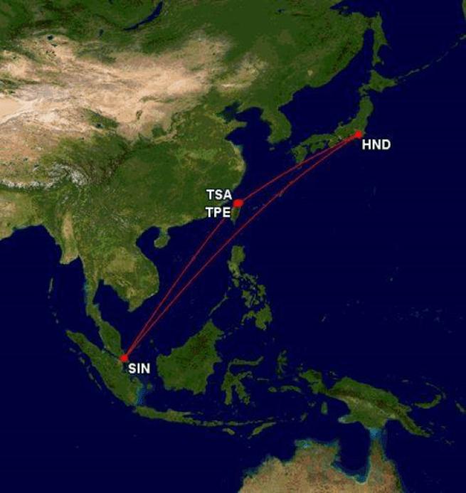 我這次的飛行路線 圖文來自於:TripPlus